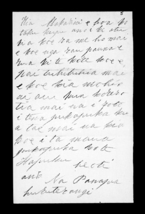 Undated letter from Panapa Huruterangi to McLean