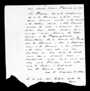 Letter from Ropiha to McLean
