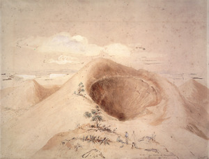 Heaphy, Charles 1820-1881 :The crater of Rangitoto Island, 960 ft. high. no. 1 [1850s?]