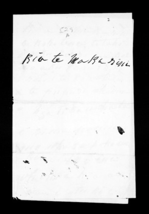 Undated letter from Areta to McLean