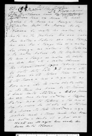 Letter from Moananui Tareha & other Ngati Kahungunu Katoa to Grey and McLean (with translation)