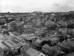 Part 5 of a 8 part panorama of Auckland, taken from St Matthew's Church