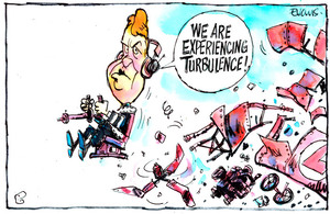 Evans, Malcolm Paul, 1945- :Cunliffe experiencing turbulence. 19 June 2014