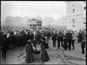 Opening of the electric tramway, Christchurch