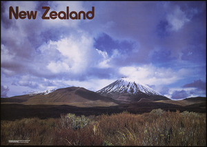 New Zealand. Tourist and Publicity Department :New Zealand. [Mount Ngauruhoe]. Produced by the New Zealand Tourist and Publicity Department. Photographer Philip Temple. E C Keating, Government Printer, Wellington, New Zealand. [ca 1979]
