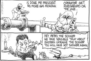 """Scott, Thomas, 1947- :""""Is done, Mr President. No more gas flowing."""" 28 June 2014"""