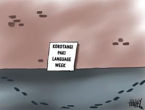 Hawkey, Allan Charles, 1941- :Language. 11 July 2014