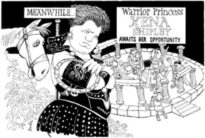 Brockie, Bob:Meanwhile...Warrior Princess Xena Shipley awaits her opportunity. National Business Review, 14 August 1997.