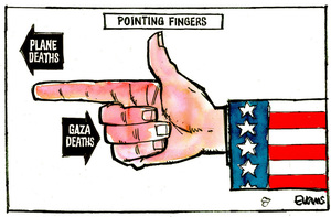 Evans, Malcolm Paul, 1945- :Pointing Fingers. 22 July 2014
