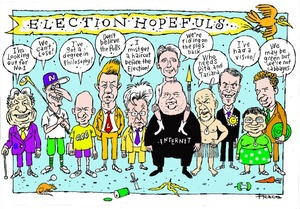 Hodgson, Trace, 1958- :Election hopefuls. 4 August 2014