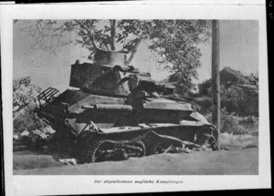 Wrecked World War 2 British tank, in Crete