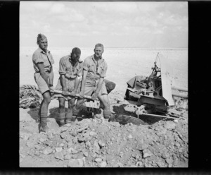 New Zealand soldiers emplacing an anti-tank gun during World War II