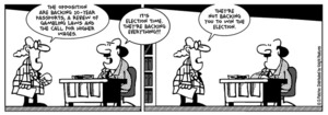 """Fletcher, David 1952- : """"It's election time. They're backing everything!!!"""" The Politician. 4 September 2014"""