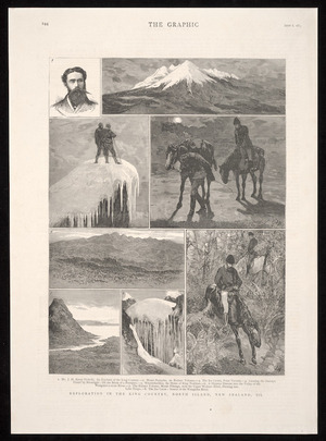 Artist unknown :Exploration in the King Country, North Island, New Zealand, III. The Graphic, Sept. 6, 1884, [page] 244.