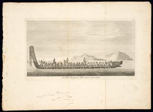 [Parkinson, Sydney], 1745?-1771 (after) :Battello da guerra della nuova Zelanda / Vinc. Aloja inc. [1790-1815?]