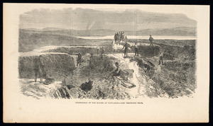 [Illustrated London news] :Stronghold of the Maoris at Rangariri - see preceding page. [The Illustrated London news, February 27, 1864, page 216]