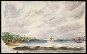 Artist unknown :St George's Bay & the railway wharf. 15/9/86 [1886]