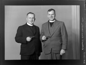 Reverend Keith Elliott, V C, with the Reverend Harry Squires