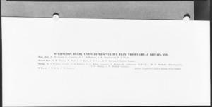 Player list of Wellington Rugby Union representative team versus Great Britain, 1930