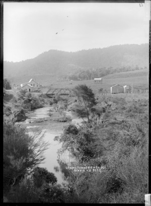 Oparau township and bridge, Waikato