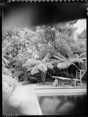 Swimming pool and garden, Homewood, Karori, Wellington