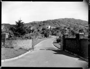 Entrance gates, Homewood, Karori, Wellington