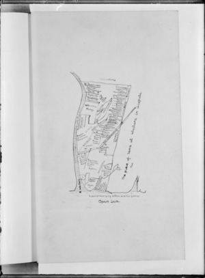 [Creator unknown] :The piece of land at Waitara in dispute [copy of ms map]. 1860.