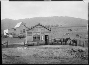 Otto Sperling's shop in Oparau, Waikato