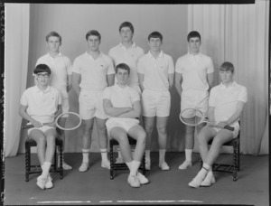 Rongotai College, senior A tennis team, of 1968