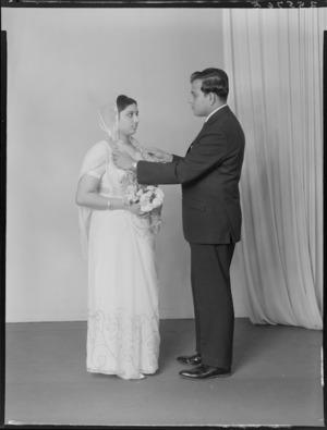 Bride and groom, probably Naik family wedding