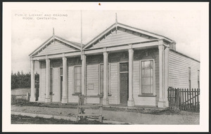 [Postcard]. Public Library and Reading Room, Carterton [1900s]