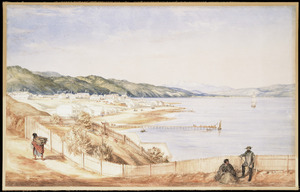 Barraud, Charles Decimus, 1822-1897 :[Wellington; Thorndon from the Terrace]. 1856