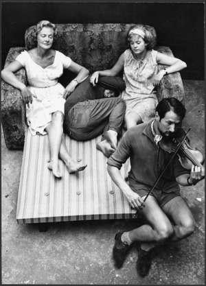 Photograph of a scene from The bed settee