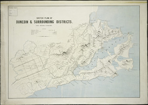 Sketch plan of Dunedin & surrounding districts [cartographic material] / G.P.W..