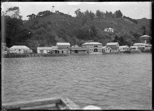 View of Kohukohu, 1918.