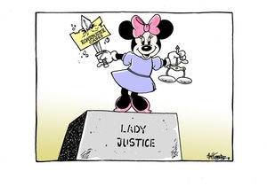 Hubbard, James, 1949- :Lady Justice. 31 October 2014