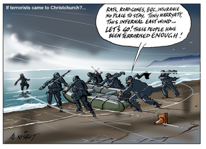 Nisbet, Alastair, 1958- :If terrorists came to Christchurch. 3 November 2014