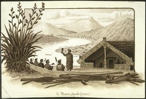 [Sherriff, George] 1846-1930. Attributed works :A Maori speech (korero). - Wanganui ; [A D Wi]llis, [ca 1890]