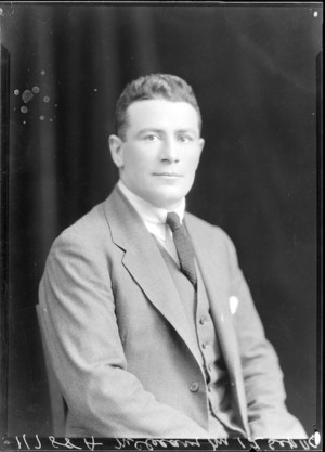 Brian Verdon McCleary, All Black rugby player 1924
