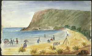 Medley, Mary Catherine (Taylor), b. 1835 :Sumner Beach, looking to Scarborough. 11 Oct 1895.
