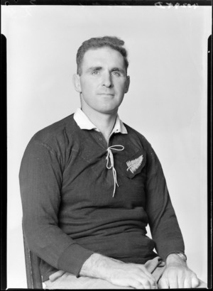 George 'Nelson' Dalzell, member of the All Blacks, New Zealand representative rugby union team