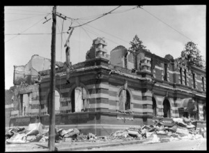 1931 Hawke's Bay earthquake, unidentified location, destroyed building
