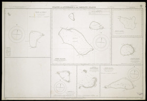 Islands and anchorages in the Caroline Islands [cartographic material].