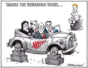 Tremain, Garrick, 1941- :Wheels. 19 November 2014