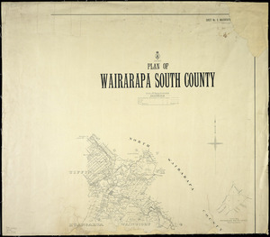 Plan of Wairarapa South county [cartographic material].