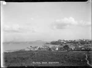 Houses at Sulphur Beach, Northcote, Auckland