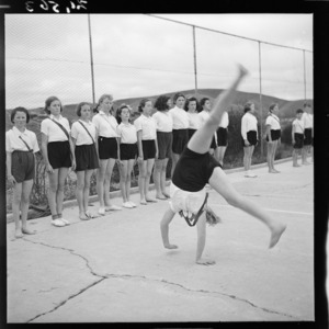 School girls in Plimmerton, during a physical education class