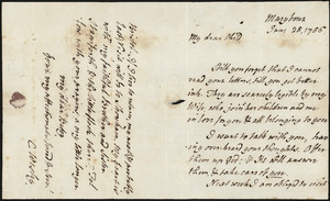 Letter from Rev Charles Wesley to Betsy Briggs
