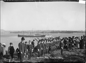 School cadets at Northcote Point, Auckland