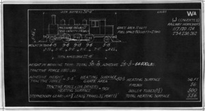 """Blueprint specifications for """"Wa"""" class steam locomotives (J converted)"""